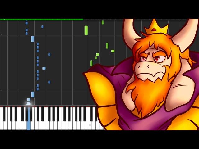 Bergentrückung ASGORE - Undertale [Piano Tutorial] (Synthesia)