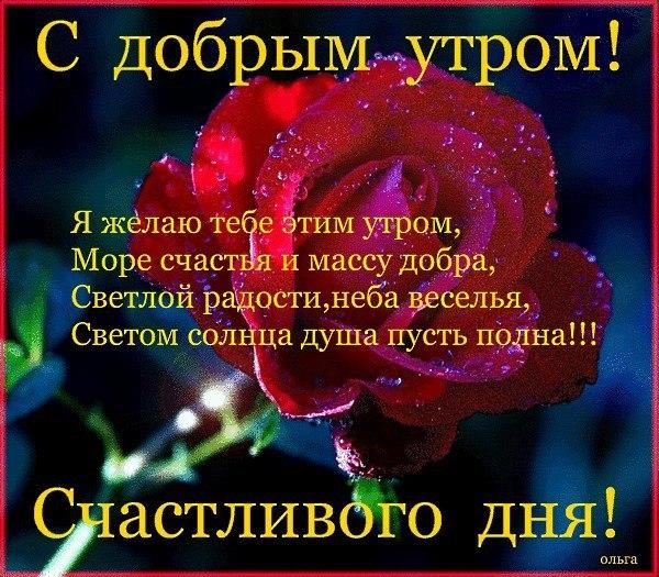 Поздравления с добрым утром любимой в стихах красивые