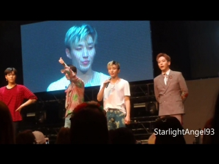 jongup and himchans ending speeches @ party baby chicago boom