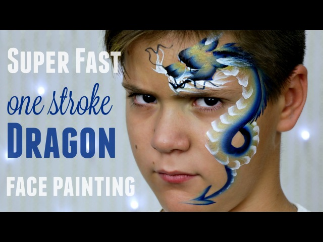 One Stroke Chinese Dragon — Fast Easy Face Painting Tutorial