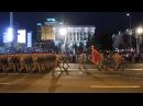 Слава Україні - Героям слава та Україна понад усе! від Морської піхоти на фоні нічного Майдану