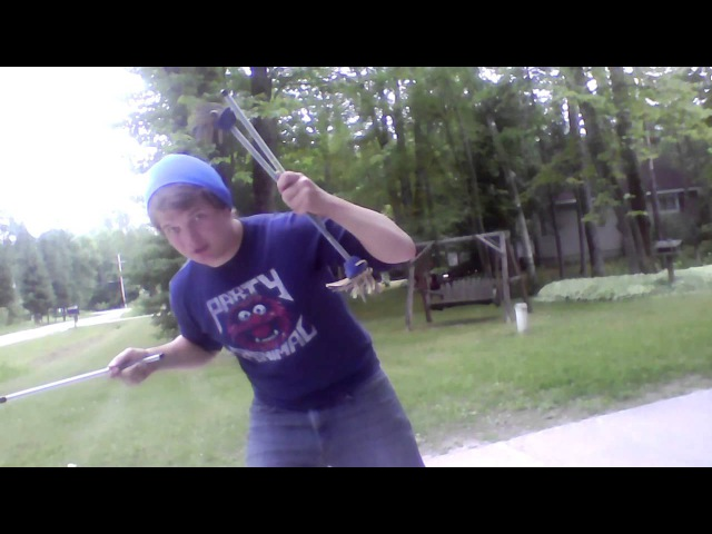 Learn to Use Juggling Sticks Video 8 Using Your Arms and Neck and Handstick Flips