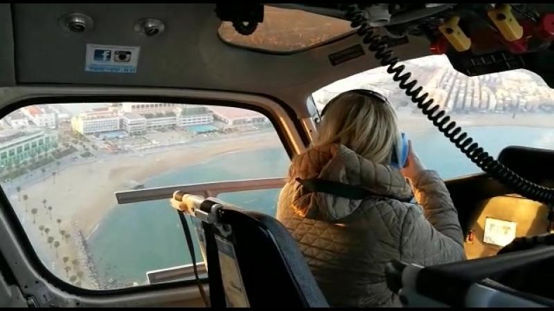 Барселона полет на вертолете над городом в День рождения