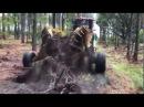Скоростная корчевка пней Pulling stumps
