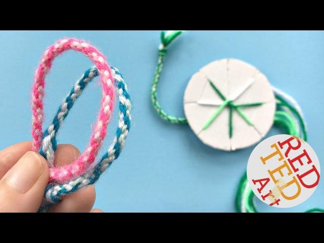 EASY How to make friendship bracelets with a cardboard disk DIY Kumihimo Bracelets