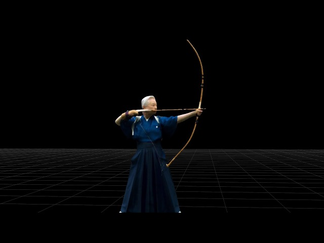 KYUDO - Mariko Satake/4D View DEMO - IS JAPAN COOL DOU(弓道 - 佐竹 万里子)