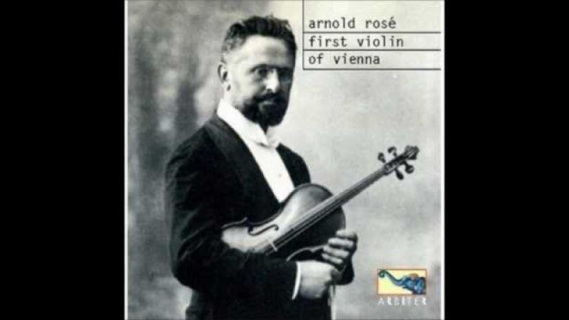 Rosé Kreisler Szigeti play Bach Violin Sonata 1 Adagio