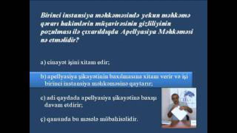 ABA CEELI Vəkilliyə namizədlər üçün hazırlıq kursları Məşğələ 10 1