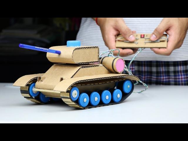 Wow Amazing RC Tank DIY at Home Mini Gear RC Tank