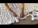 DIY Tutoriel tricoter une couverture XXL avec les mains en laine merinos ComfyWool