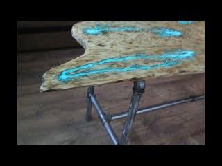 СТОЛ МОЛНИЯ.(Часть 2 - ножки из труб) Как сделать светящийся стол из эпоксидной смолы.