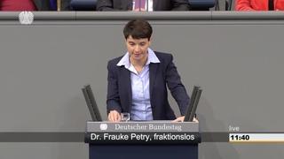 """Petry: Frau Merkel, """"seien Sie unbesorgt: Ohne Sie schaffen wir das!"""""""
