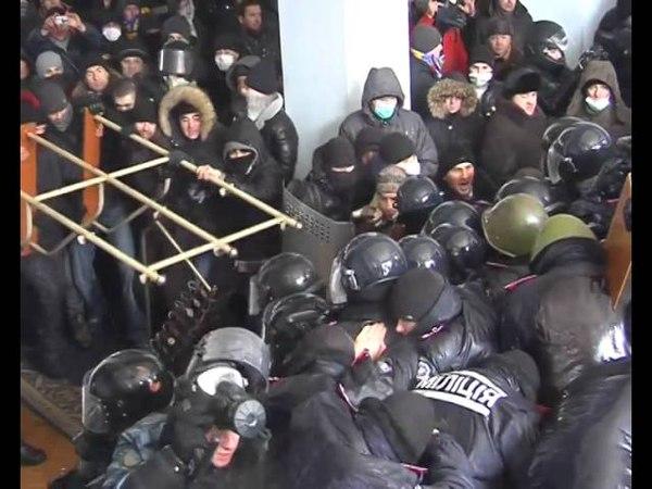 Побиття міліціонерів під час захоплення Вінницької ОДА