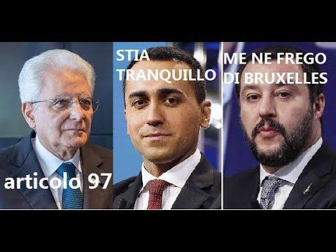 SALVINIE DI MAIO: PRESIDENTE STIA TRANQUILLO SALVINI: ME NE FREGO DI BRUXELLES