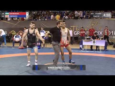 Beka LOMTADZE GEO A RAKHMONOV UZB Final 61 kg Golden Gran prix Tbilisi 2018
