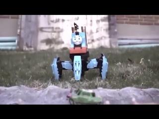 Сборка милого робота-огнемётчика