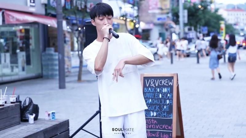 [PERF: 170805] RAEHWAN, ECO - 새파랑 (D.O.B) @ Уличное выступление с VV Crew в Синчоне