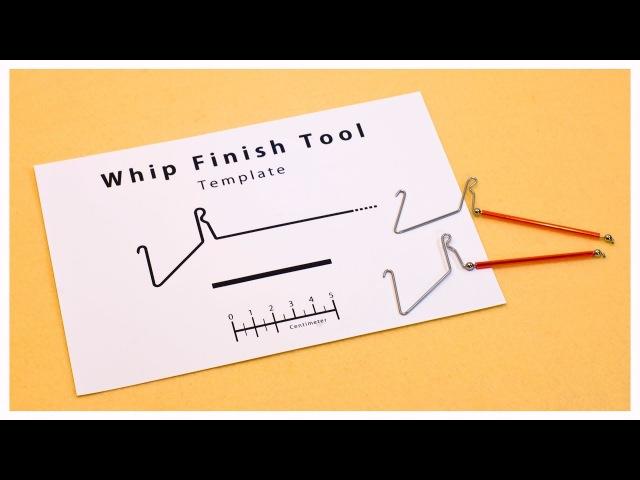 Template for making a Whip Finish Tool ウィップフィニッシャーの自作用テンプレート