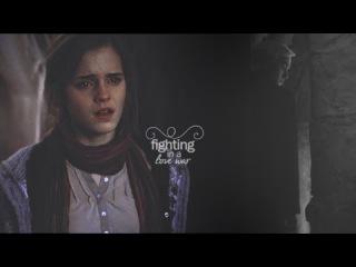 fighting in a love war [draco + hermione]