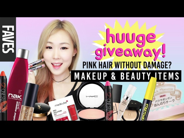 LATEST KOREAN MAKEUP FAVES! Zero-Damage Pink Hair BIGGEST Giveaway EVER! | meejmuse