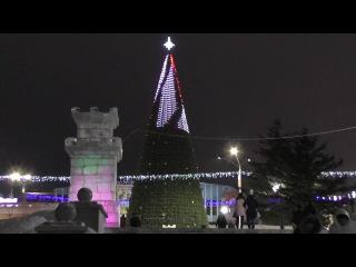 Новая барнаульская городская елка (à la московская) на пл. Сахарова. Видеоролик 5