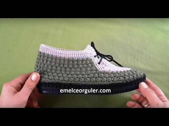 Kolay Fıstıklı Örgü Ev Ayakkabısı Patik Yapımı