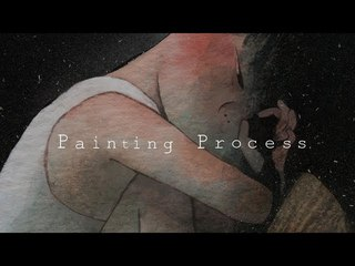 """Painting Process:수채화 일러스트/Watercolor illustration """"space"""" by jiyeon"""