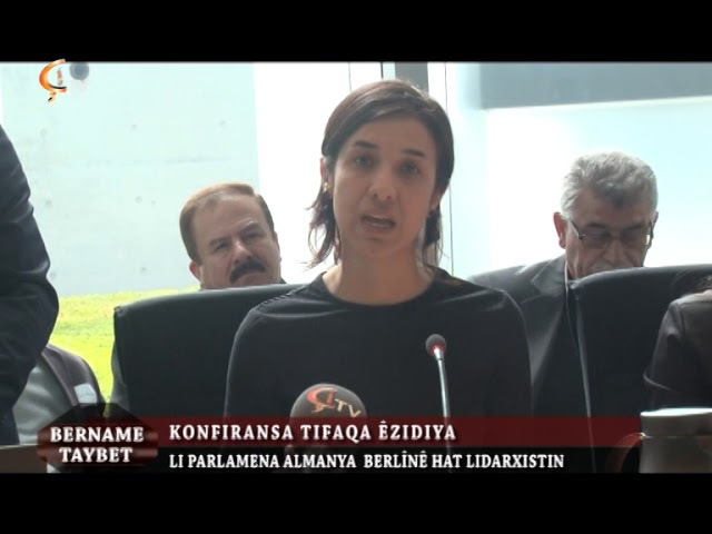 Celal Onen Konfransa Ezidiyan li Berline 28 04 2017 Nadia Murad