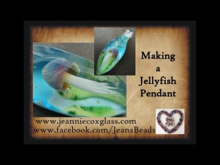 Making A Jelly Fish Pendant in Soft Glass by Jeannie Cox
