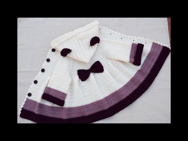 Abrigo para niña a crochet muy fácil tutorial