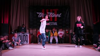 Hit The Floor vol.3 hip-hop beginners 1/2 Kosmo(win) vs Gelya