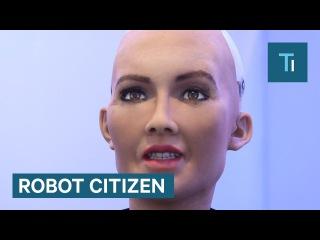 Обещавший уничтожить человечество робот получил гражданство