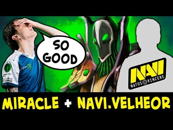 Miracle carried by NEW NaVi support Velheor on Rubick