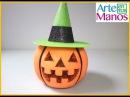 Calabazas para Halloween en esferas de Porexpan o Icopor