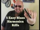 5 Easy Beginner Blues Harmonica Riffs Key of C Lesson