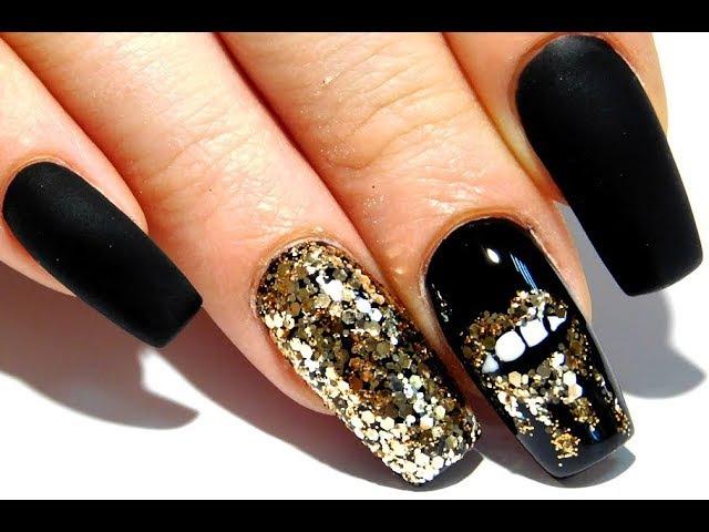 ТОП Красивый дизайн ногтей. Золотые губы 2017 новинки от мастер маникюра nail 2017