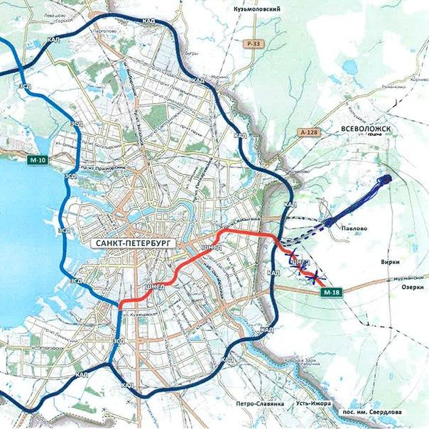 Губернатор Петербурга поделился с журналистами планами по строительству ШМСД 3
