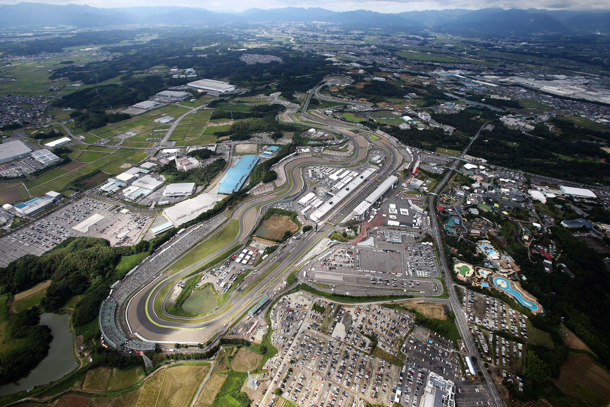 Автодром Судзука в Японии с высоты птичьего полёта