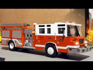 El Camión de bomberos es Rojo al rescate - Dibujo animado de coches - Nuevo Videos de Niños