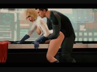 3d porn powergirl x batman (dc comics sex) [порно, секс, хентай, анал, минет]