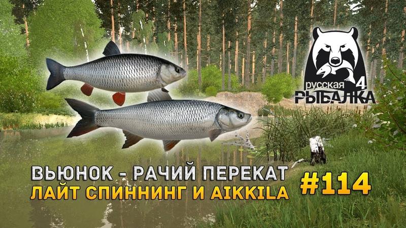 Русская Рыбалка 4 114 - Вьюнок - Рачий перекат. Лайт спиннинг и Aikkila