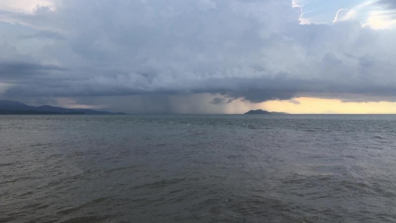 Западная оконечность Пунтаренаса Вид на залив со стороны маяка