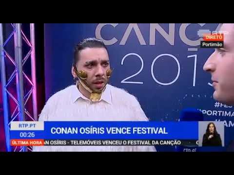 As Reações de Conan Osíris Vencedor Festival da Canção 2019