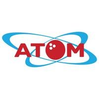 Логотип АТОМ / Развлекательный Центр / Обнинск / Боулинг