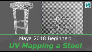 Maya 2018 Beginner: UV Mapping a Stool/Bench