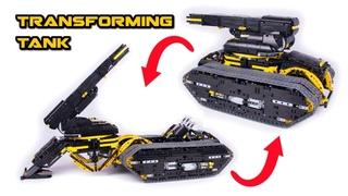 Transforming Lego Technic Tank - Howitzer - Full RC