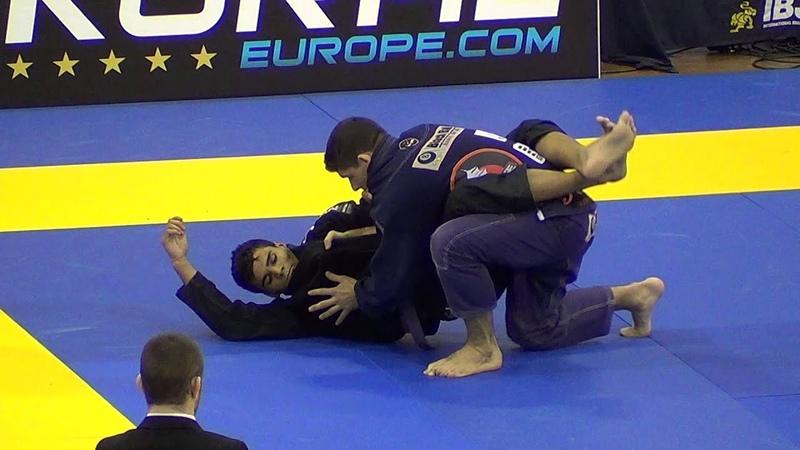 Philippe Pomaski vs Rudson Mareus Euros 2015 Purple Belt Open Weight Finals