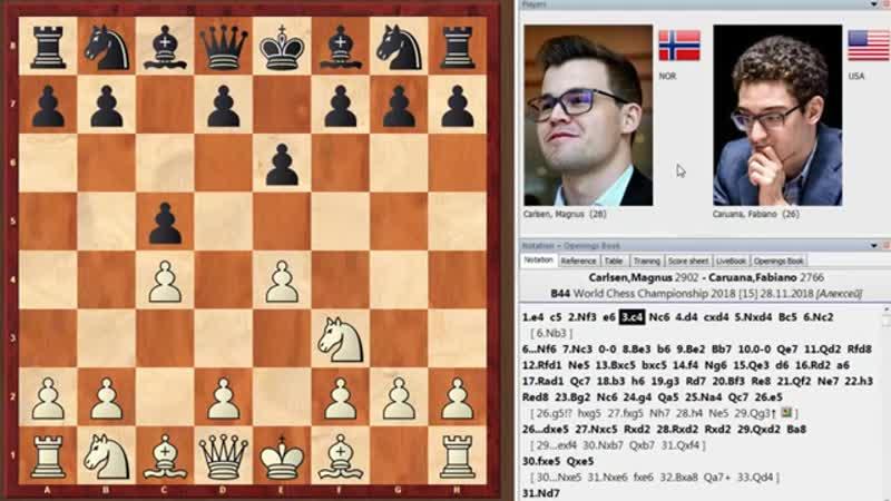 Магнус Карлсен - Фабиано Каруана (Лондон, 2018 год). 3-я партия матча (тай-брейк)