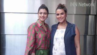 Neha Dhupia And Kajol Spotted Before Recording For #NoFilterNeha Season 3