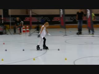 Amazing! Bogdanova Sofia #The Triple European Champion Freestyle Slalom Skating